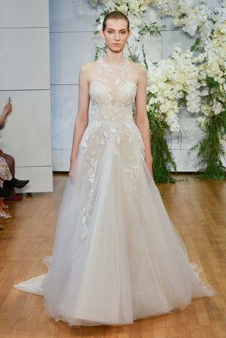 monique-lhuillier-spring-2018-bridal-collection-wedding-dress-sage-a-line-gown-flower-embroidery