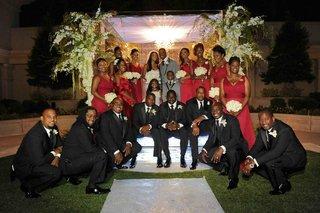 porsha-williams-bridesmaids-and-kordell-stewarts-groomsmen