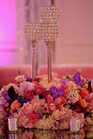 low-vibrant-arrangements-and-mercury-glass-votives