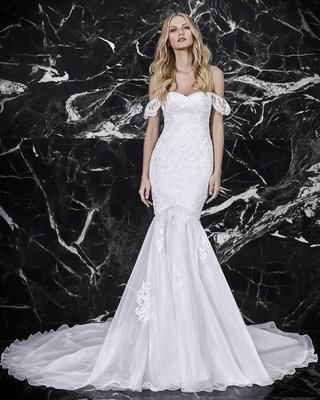 victoria-kyriakides-spring-2018-cherie-fitted-gown-flared-skirt-lace-overlay-off-the-shoulder