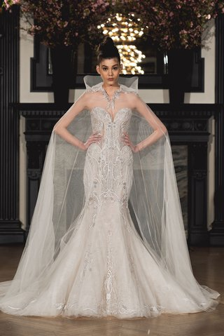 ines-di-santo-spring-2019-bridal-collection-wedding-dress-bella-trumpet-strapless-gown-with-cape
