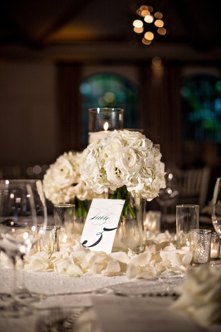 small-centerpieces-with-white-roses-and-candles-flower-petals-on-tables