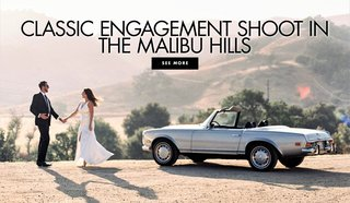 classic-engagement-shoot-in-the-malibu-hills-vintage-car-convertible-mustang