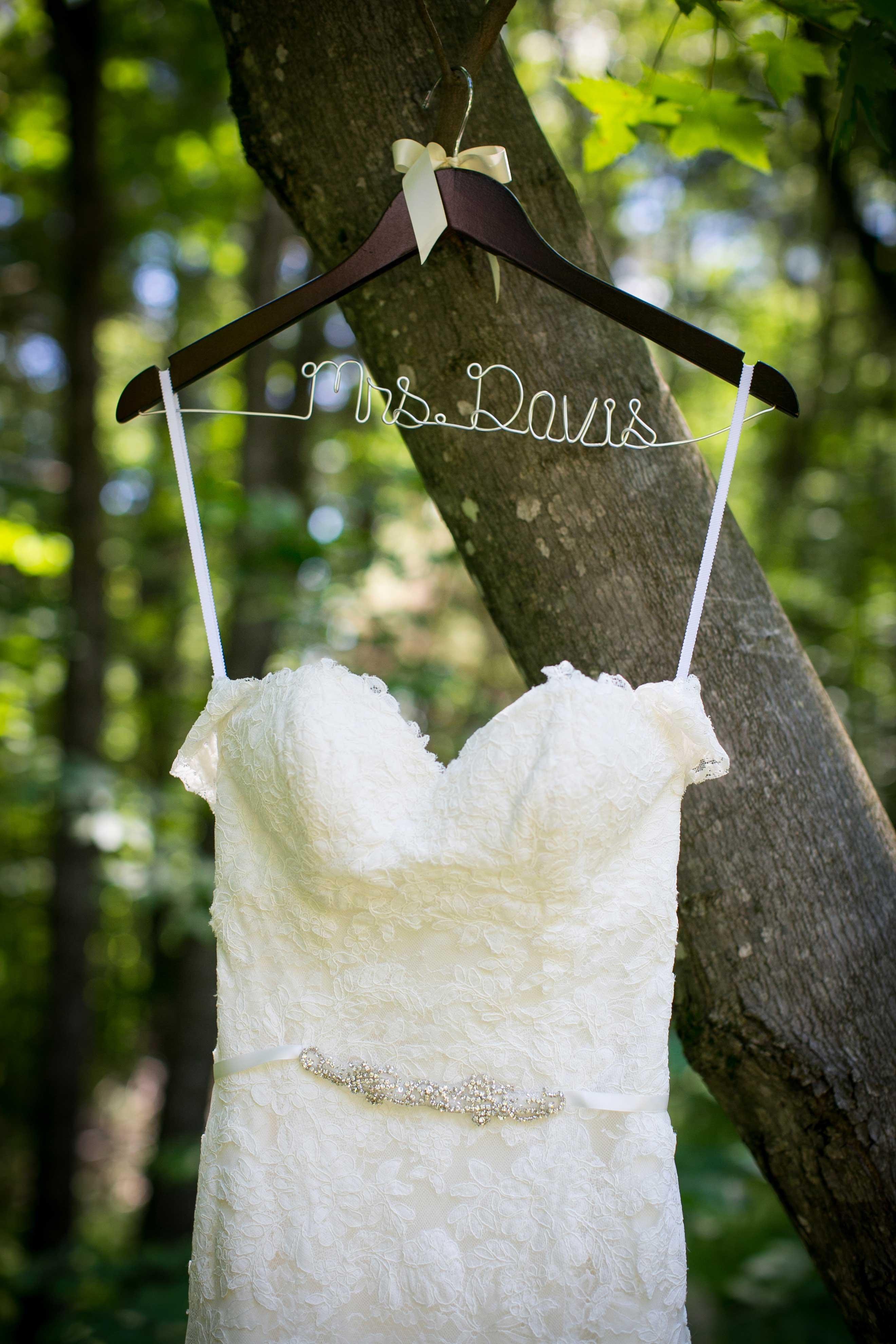Mrs Davis Hanger With Wedding Dress