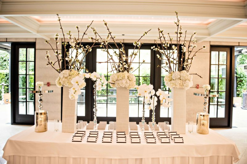 Branch & Floral Escort Card Table