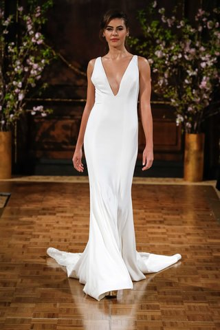 isabelle-armstrong-spring-2017-storm-deep-v-neck-wedding-dress-column-in-crepe-with-back-embroidery
