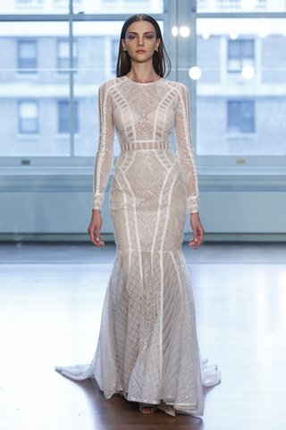 99045-by-justin-alexander-spring-2019-linear-geometric-sequined-lace-fit-and-flare-dress