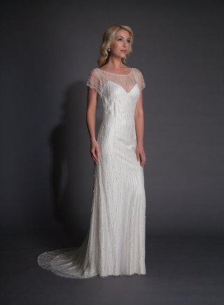 modern-trousseau-halston-silk-wedding-dress-with-short-sleeve-beaded-overlay