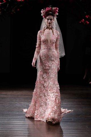 pink-long-sleeved-wedding-dress-by-naeem-khan-fall-2016
