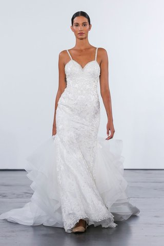 dennis-basso-for-kleinfeld-2018-collection-wedding-dress-spaghetti-strap-gown-with-ruffle-train