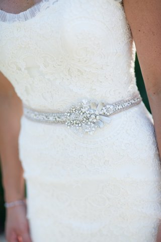 white-lace-wedding-dress-with-silver-crystal-wedding-belt