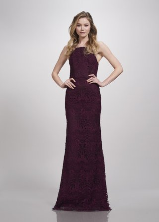 theia-bridesmaids-spring-2018-lace-bridesmaid-dress-fitted-high-neck-halter-straps-aubergine