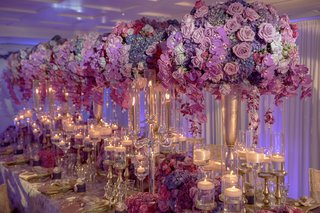 tall-purple-pink-floral-arrangements-bold-feminine-styled-shoot-wedding-kesh-designs-lavish