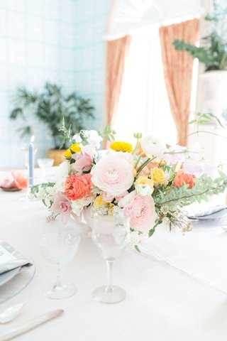 the-confused-millennial-wedding-shoot-ranunculus-flowers-orchids-greenery-yellow-pink-orange-flowers