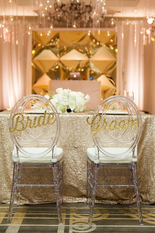 sparkling-gold-bride-groom-signage-chairs-wedding-reception-calligraphy-classic-washington-dc