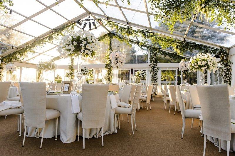 Tent Garden Wedding