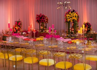wedding-reception-ballroom-yellow-velvet-chairs-gold-back-chameleon-chair-collection-lucite-table