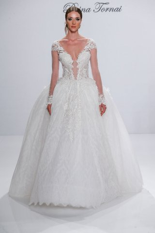 pnina-tornai-for-kleinfeld-2017-dimensions-collection-long-sleeve-princess-ball-gown-sheer-sleeves