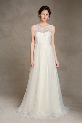illusion-neckline-claudine-dress-with-chiffon-skirt-by-jenny-yoo