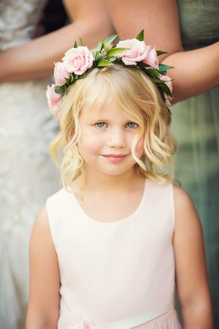 flower-girl-in-very-pale-pink-tank-dress-with-ivory-sash-blonde-hair-and-pink-rose-flower-crown