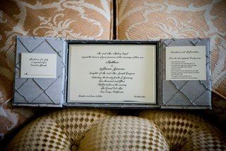 wedding-invitation-inside-box-with-grey-panels-and-sophisticated-calligraphy