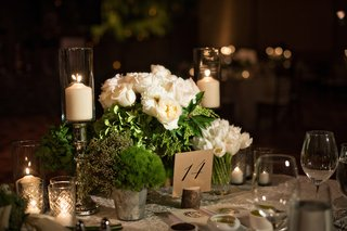 white-rose-white-tulip-centerpieces-greenery-in-metal-pails