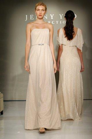 jenny-yoo-bridesmaids-2016-strapless-ivory-glitter-knit-bridesmaid-dress
