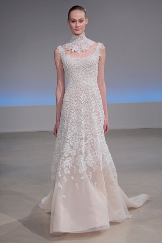 isabelle-armstrong-dallas-fall-2017-blush-nude-underlay-beaded-guipure-lace-trumpet-separate-collar