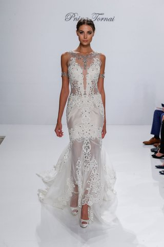 pnina-tornai-for-kleinfeld-2017-dimensions-collection-sheer-wedding-dress-beading-crystal-lace-neck