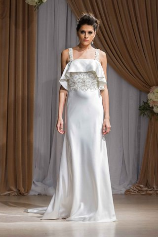 jean-ralph-thurin-fall-2016-wedding-dress-with-beaded-bodice-tank-straps-and-ruffle-neckline