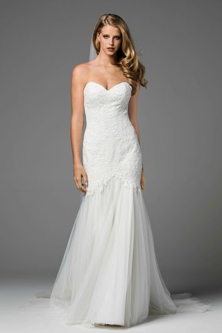 watters-2017-bridal-collection-arsene-strapless-wedding-dress-trumpet-gown-lace-bodice-tulle-skirt