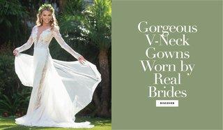 v-neck-bridal-gowns-real-brides-worn-plunging-neckline-modern-styles