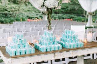 personalized-candies-favors-gifts-guests-tiffany-blue-boxes-ribbon-southern-wedding-classic-love