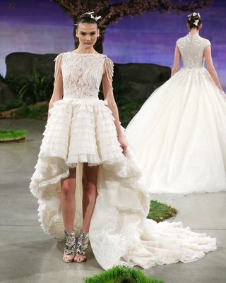 ines-di-santo-breeze-wedding-dress-with-a-high-low-ruffled-skirt-and-lace-bodice-with-pearl-strand