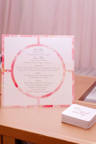 wedding-reception-bar-menu-bride-and-grooms-choice-with-liquor-beer-and-wine-details-flower-print