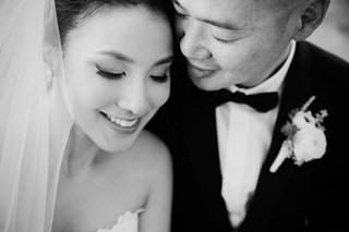 black-and-white-photo-of-close-up-of-bride-and-groom