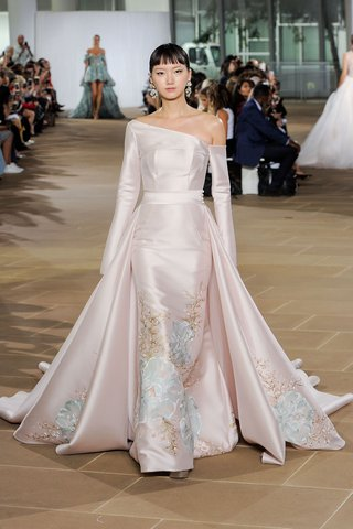 ines-di-santo-fall-2019-bridal-collection-wedding-dress-dove-hand-painted-trumpet-gown-blush-silk
