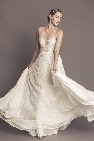 francesca-miranda-fall-2016-chiffon-wedding-dress-with-illusion-neckline-and-flower-bodice