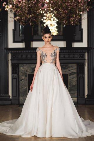ines-di-santo-spring-2019-bridal-collection-wedding-dress-ellie-illusion-bodice-circle-skirt-a-line