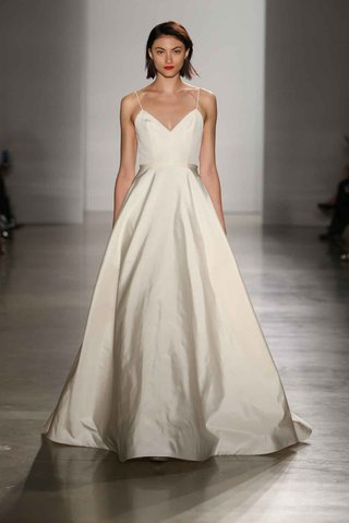 amsale-fall-2016-a-line-wedding-dress-with-spaghetti-straps