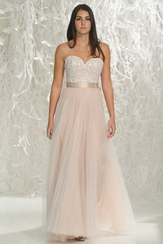 wtoo-brides-2016-strapless-blush-wedding-dress-with-sweetheart-neckline-lace-bodice-and-pink-skirt