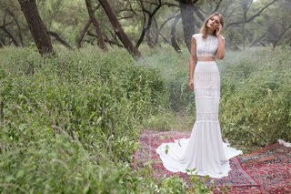 limor-rosen-2017-rosemary-wedding-dress-boho-crop-top-and-beaded-lace-skirt-birds-of-paradise