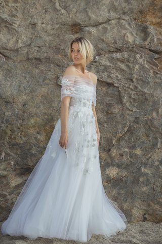 liliane-by-sabrina-dahan-spring-summer-2018-strapless-tulle-wedding-gown-with-floral-appliques