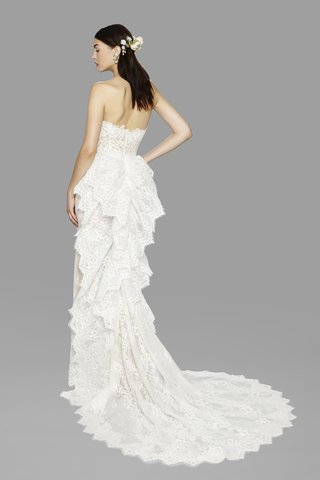 look-3-marchesa-fall-2017-strapless-column-gown-cascading-ruffle-bustle-drape-corded-lace