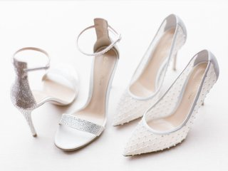 cheryl-burke-wedding-shoes-silver-glitter-ankle-strap-sandals-and-white-mesh-pumps-designer
