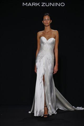 mark-zunino-for-kleinfeld-2016-strapless-draped-wedding-dress-with-high-center-slit
