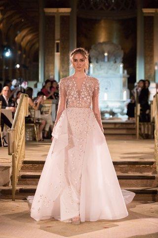 idan-cohen-fall-winter-2018-empire-of-love-wedding-dress-sheer-long-sleeve-bridal-gown-overskirt