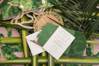 wedding-invitation-greenery-gate-fold-palm-laser-cut-design-palm-welcome-bag-wood-grain-menu-card