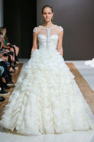 mark-zunino-spring-2018-wedding-dress-cap-sleeve-bridal-gown-ruffle-skirt-overlay-bodice