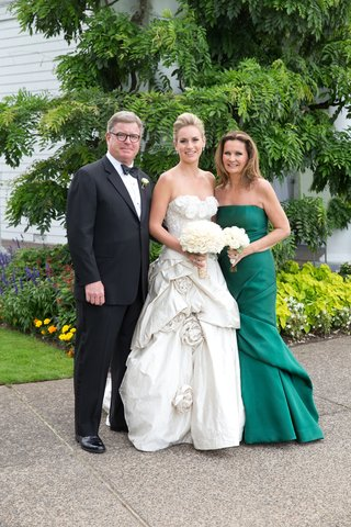 bride-with-father-and-mother-of-bride-in-green-dress
